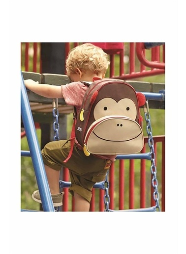 Skip Hop Skip Hop Maymun Desenli Renkli Çocuk Sırt Çantası Kahve